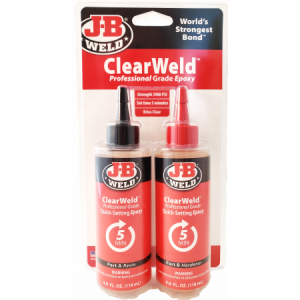 J-B Weld Clear 5 min. Epoxy 236 ml.